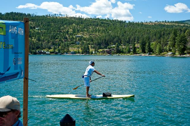 Paddle Board Crossing Finish
