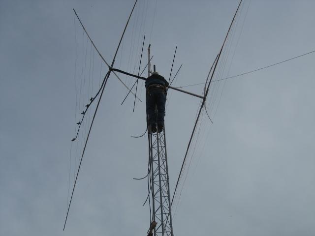 Attaching antenna to Tower